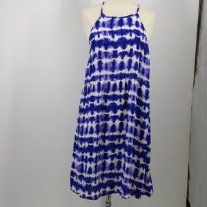 Mossimo blue tie-dye rayon sundress-sz L